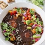 The Best Smoky Vegan Black Bean Soup from Scratch