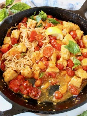 Italian Tofu in Garlic White Wine Sauce