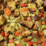 Vegan Classic Bread Stuffing with Leeks, Sage and Thyme