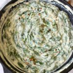 healthy vegan creamed spinach