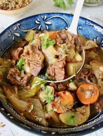 Vegan Corned Beef and Cabbage ~ Corned Jackfruit