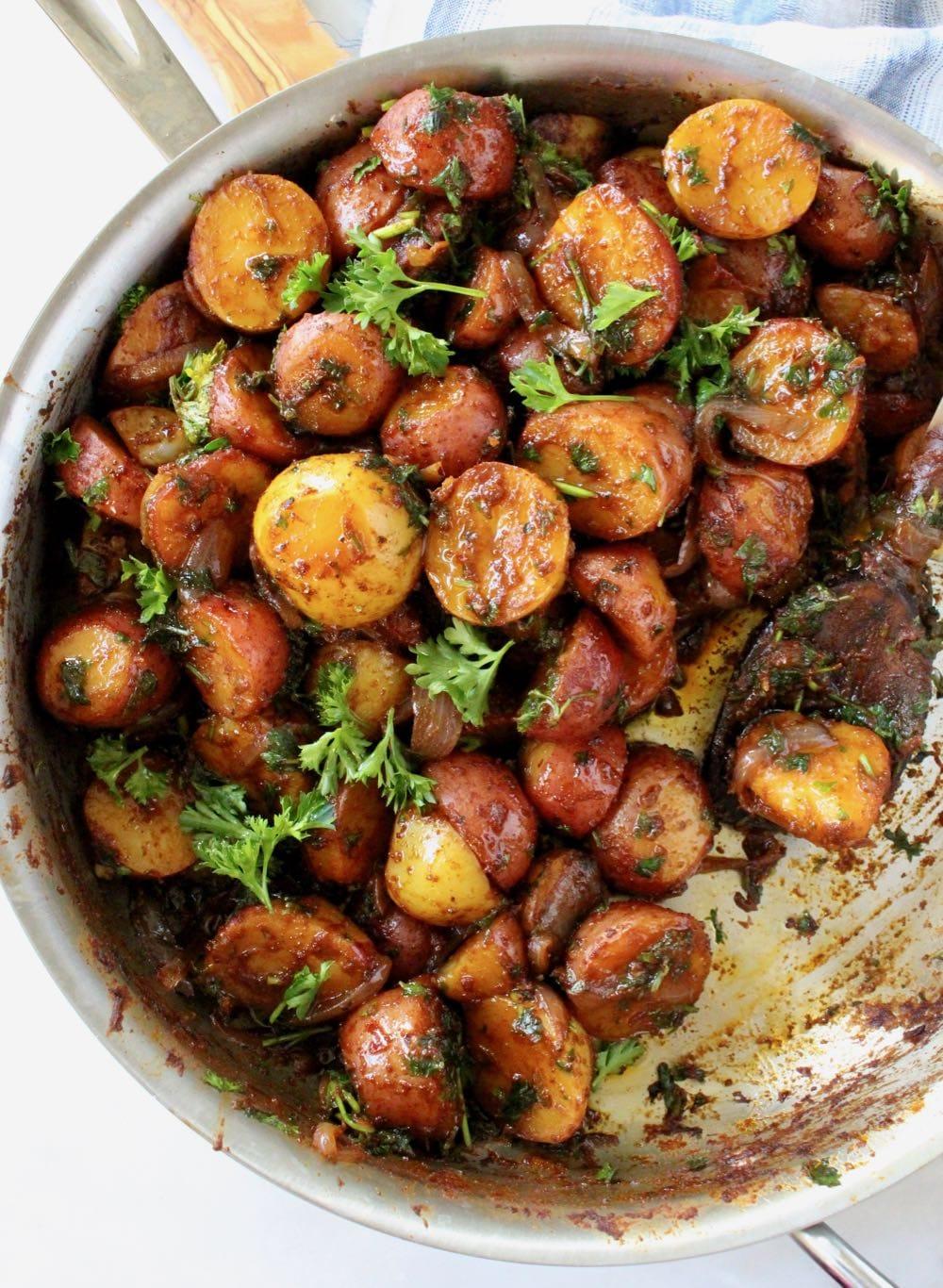 Vegan Paprika Potatoes Skillet