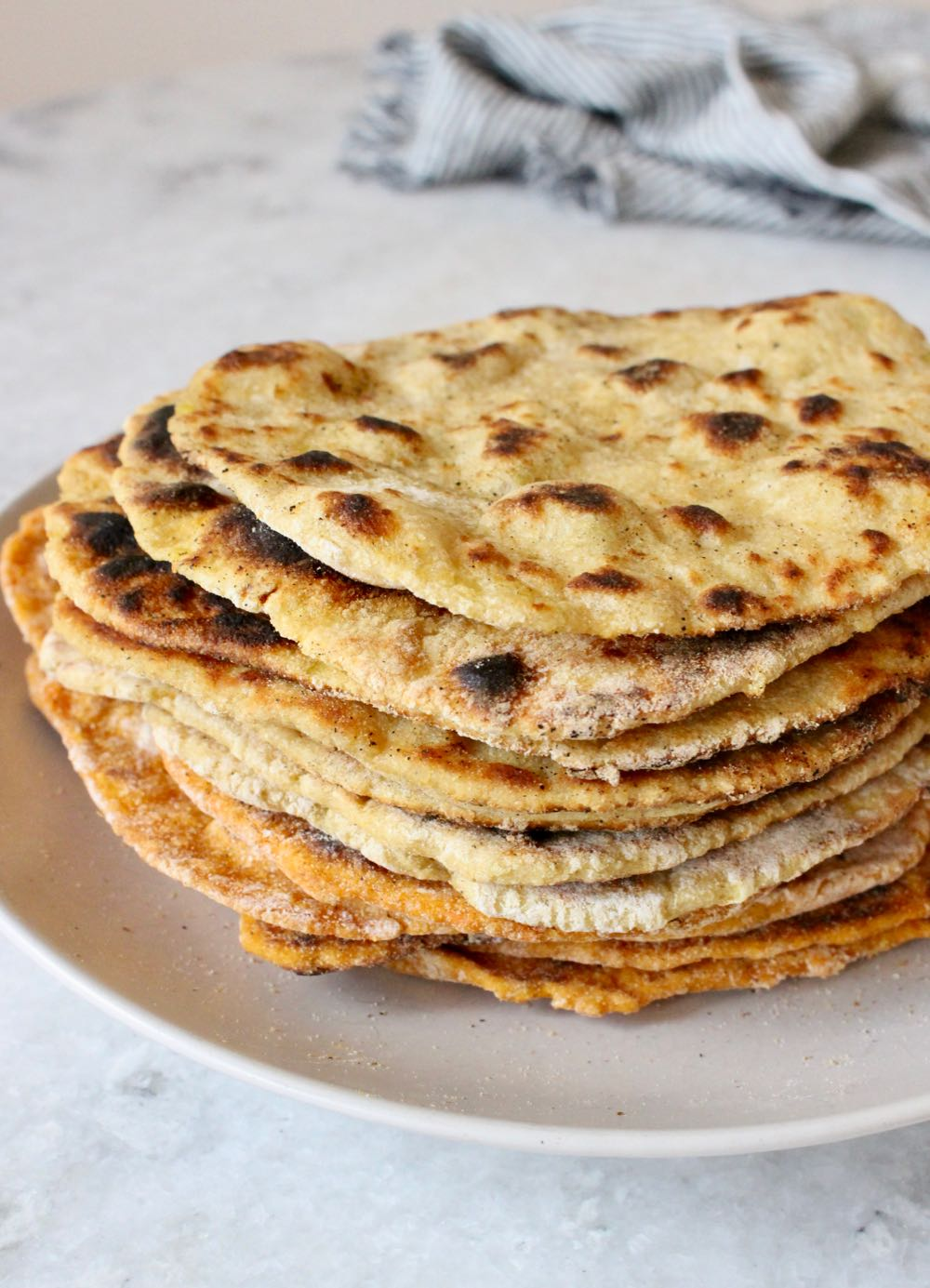 No Yeast Vegan Flatbread Stack.