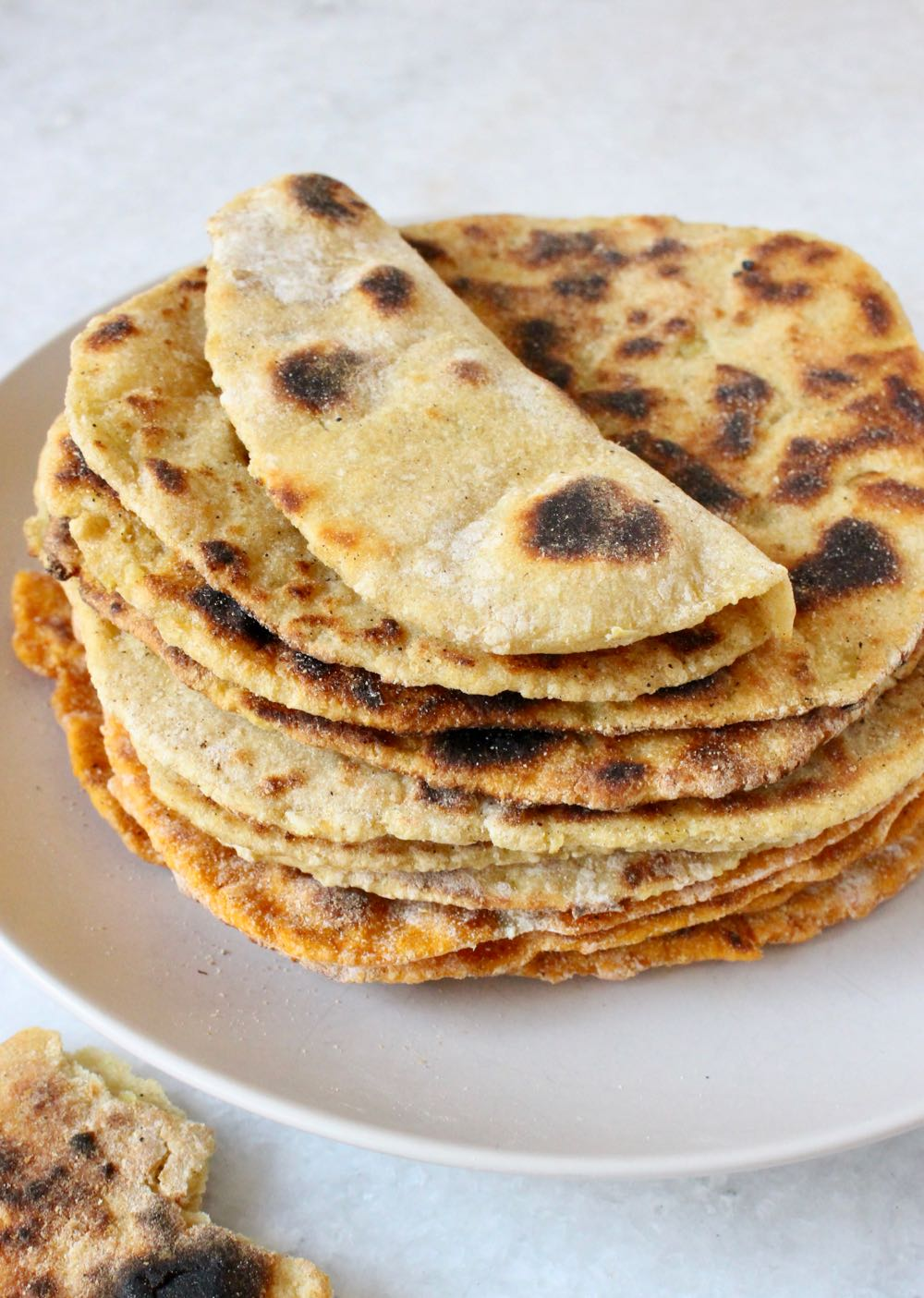 Stack of potato flatbread