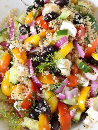 Mediterranean Quinoa Salad Recipe ~ Vegan + Gluten-free