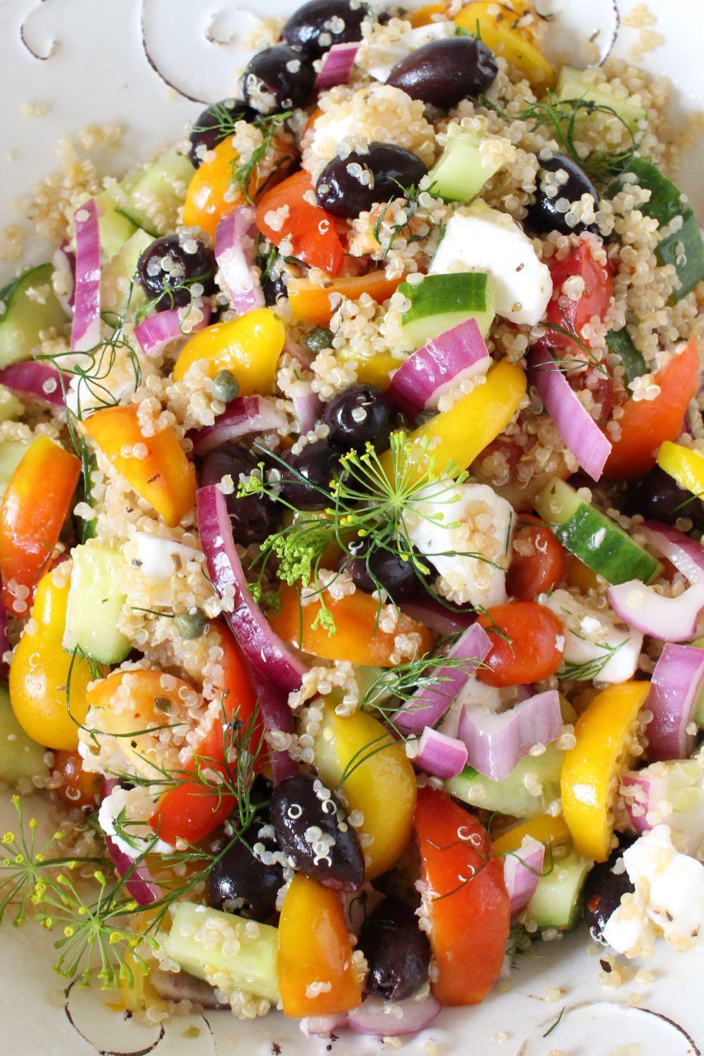 Mediterranean Quinoa Salad Recipe Vegan Gf Veggie Society