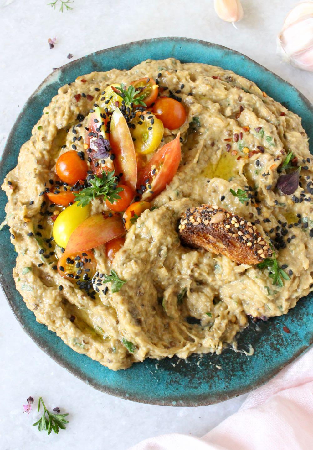 Baba Ganoush Appetizer Platter (Vegan)