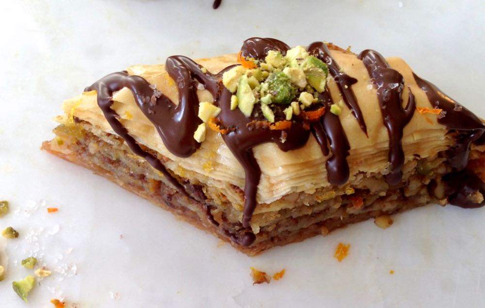Vegan Baklava with Walnuts, Pistachios and Chocolate