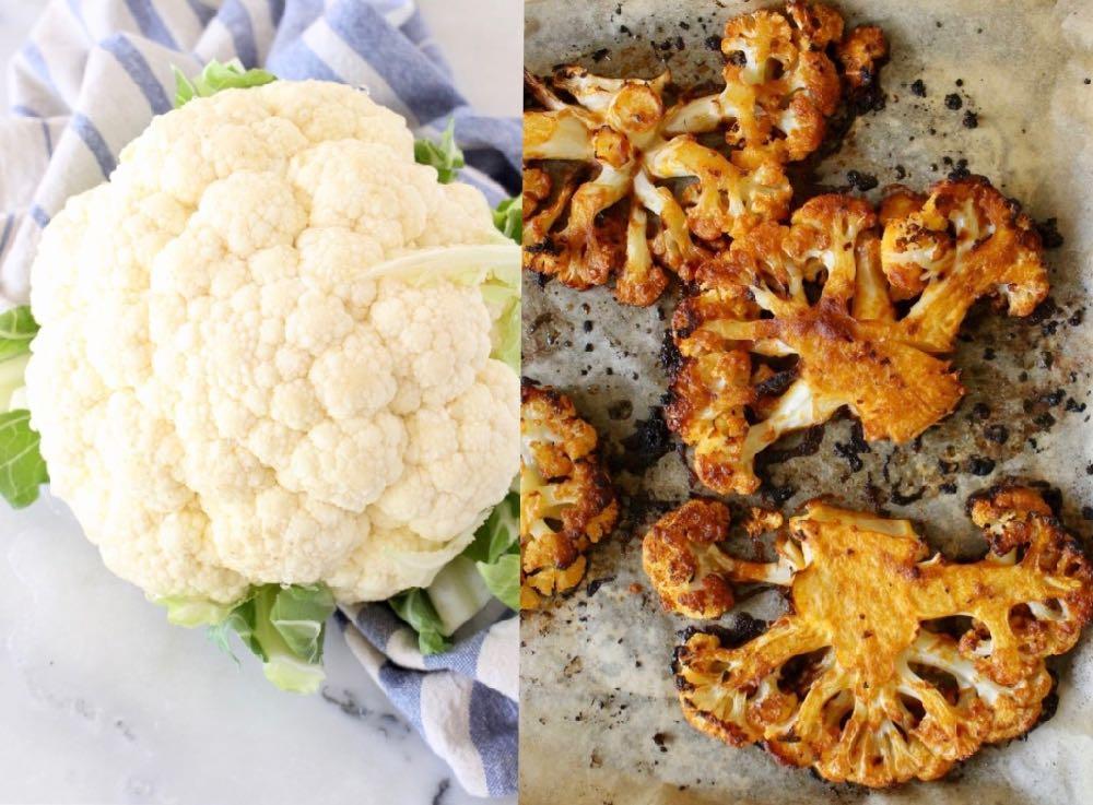vegan roasted cauliflower steaks