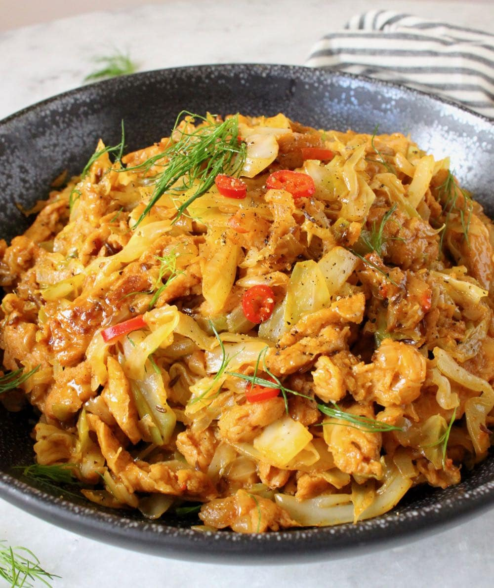 Vegan Sauteed Cabbage And Onions Recipe Veggie Society