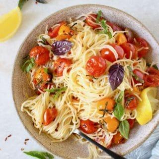 Cherry Tomato Basil Pasta (4)
