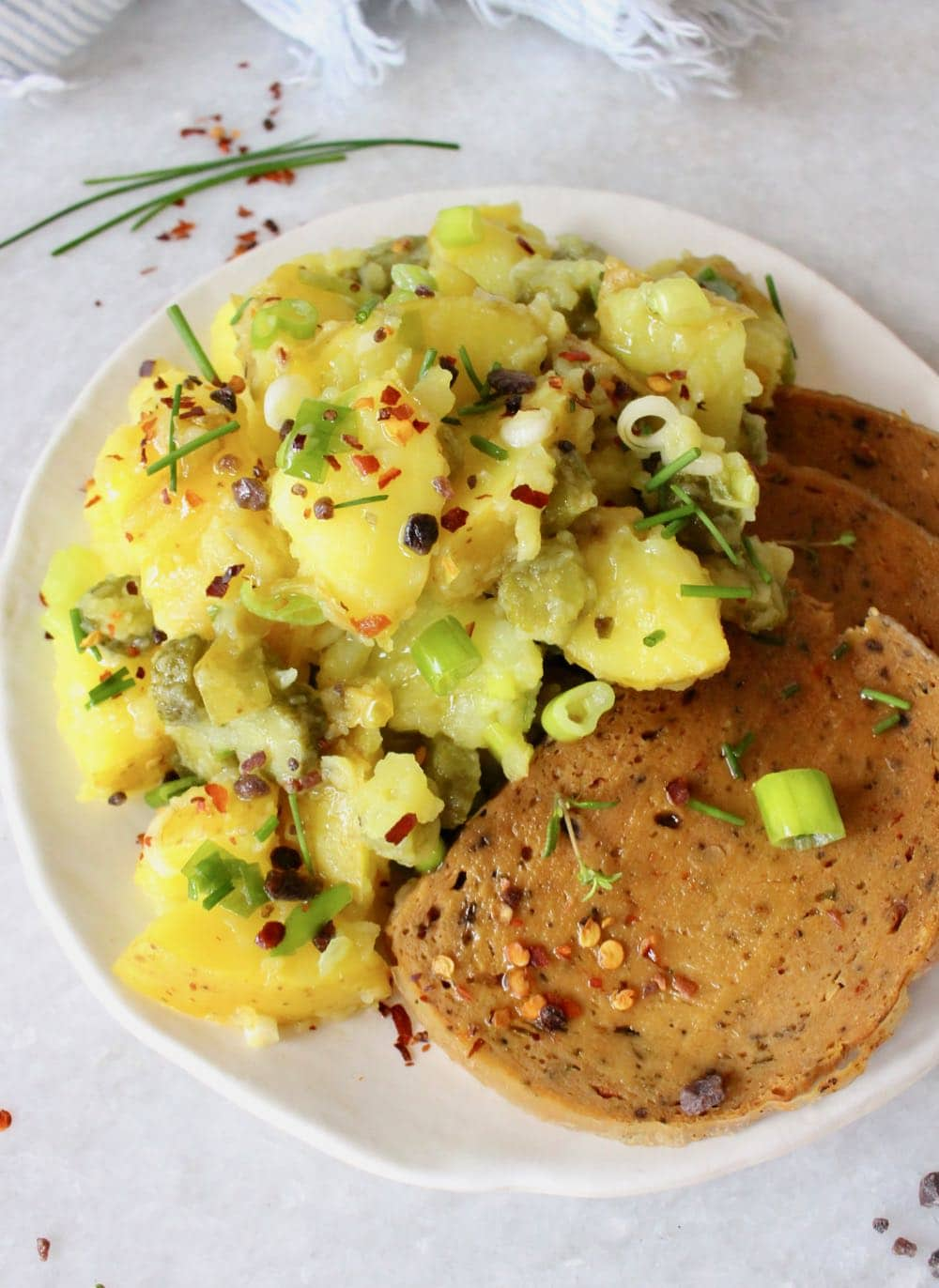 Eggless Potato Salad and Vegan Roast