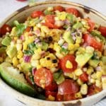 Grilled Corn Tomato Avocado Salad (8)