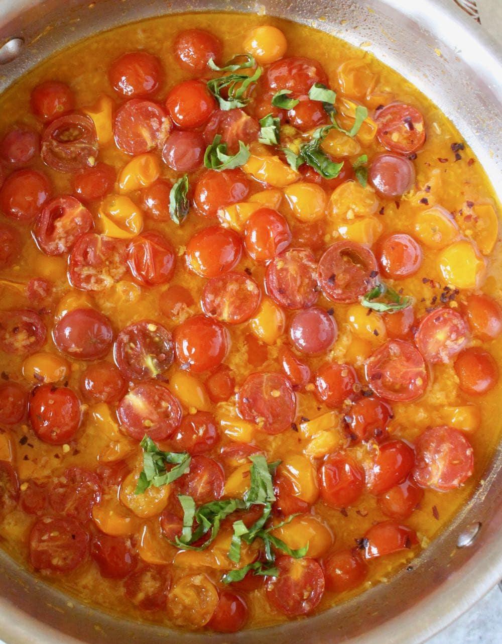 fresh cherry tomato basil pasta sauce