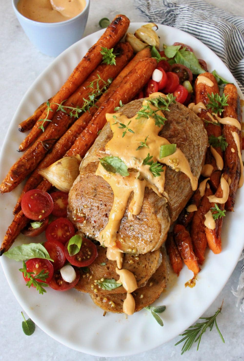 Meatless Thanksgiving holiday roast
