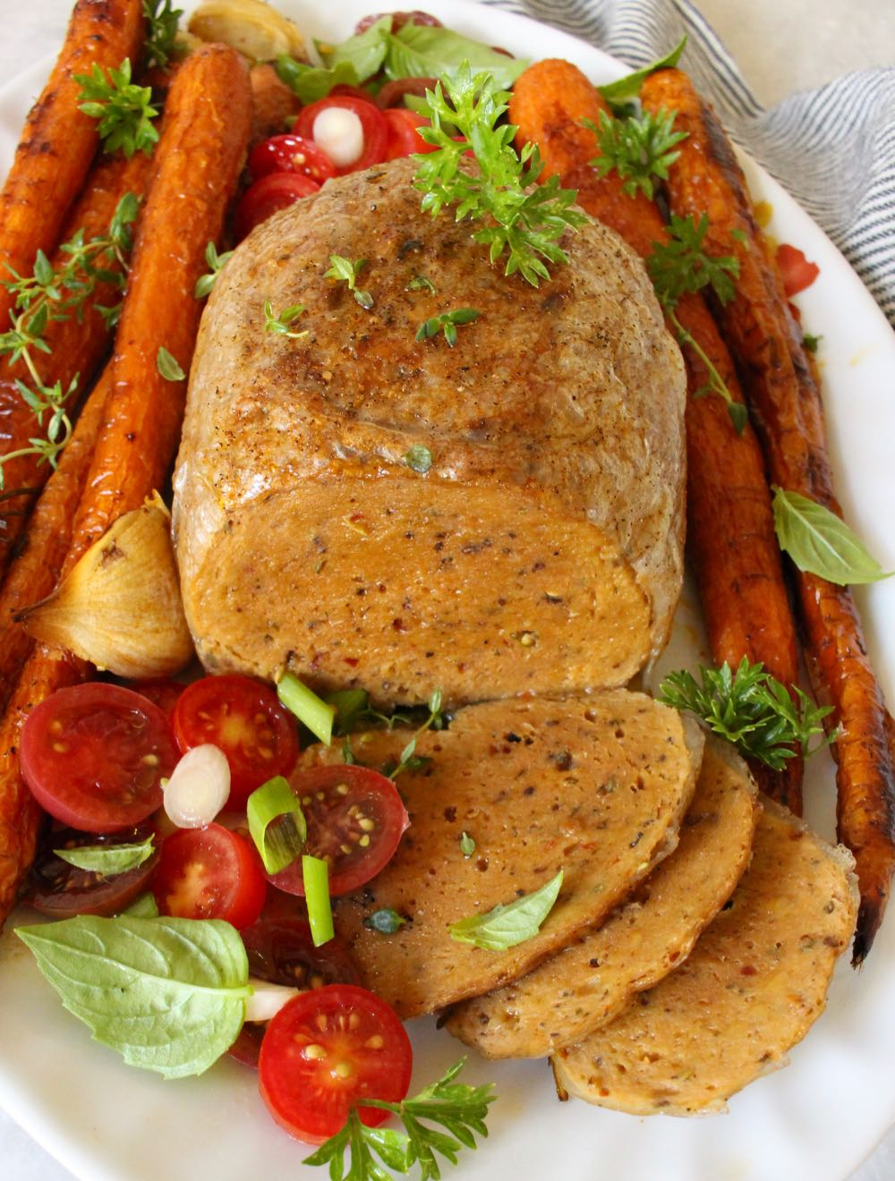 vegan sietan roast with crispy skin