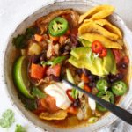 Vegan Chicken Tortilla Soup