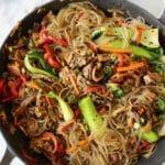 Vegetable Glass Noodles Stir Fry