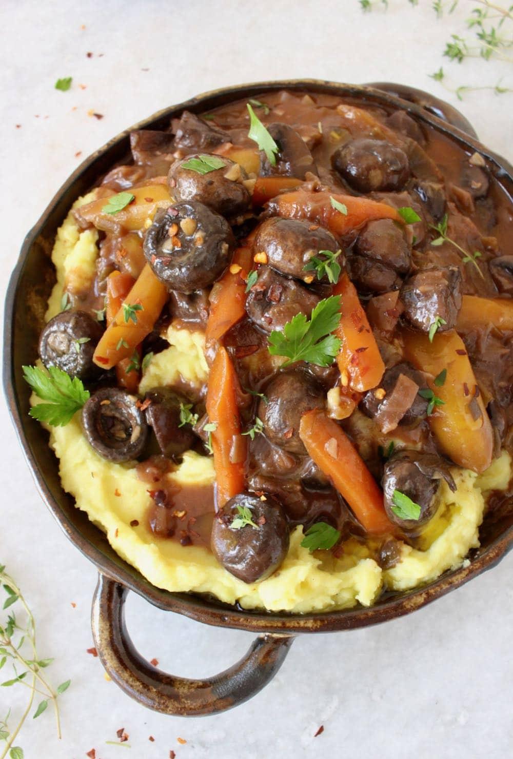 The Best Vegan Mushroom Bourguignon Recipe