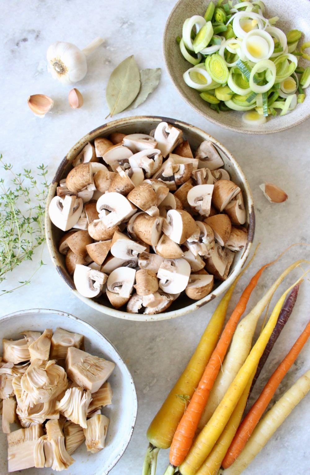 Mushroom Bourguignon Ingredients