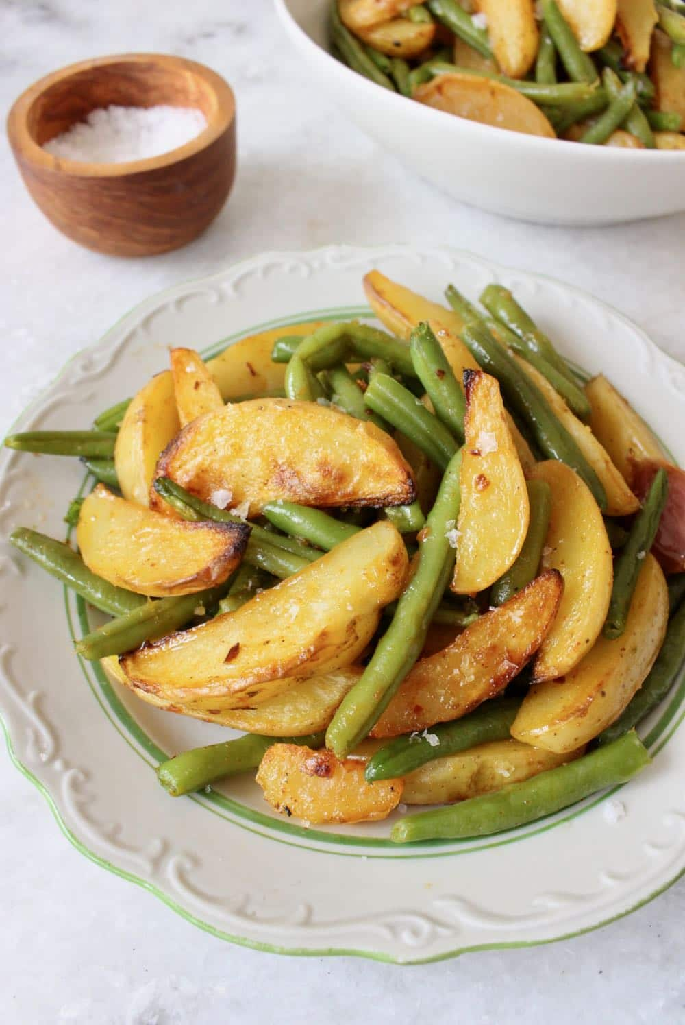 Vegan Roasted potatoes and green beans