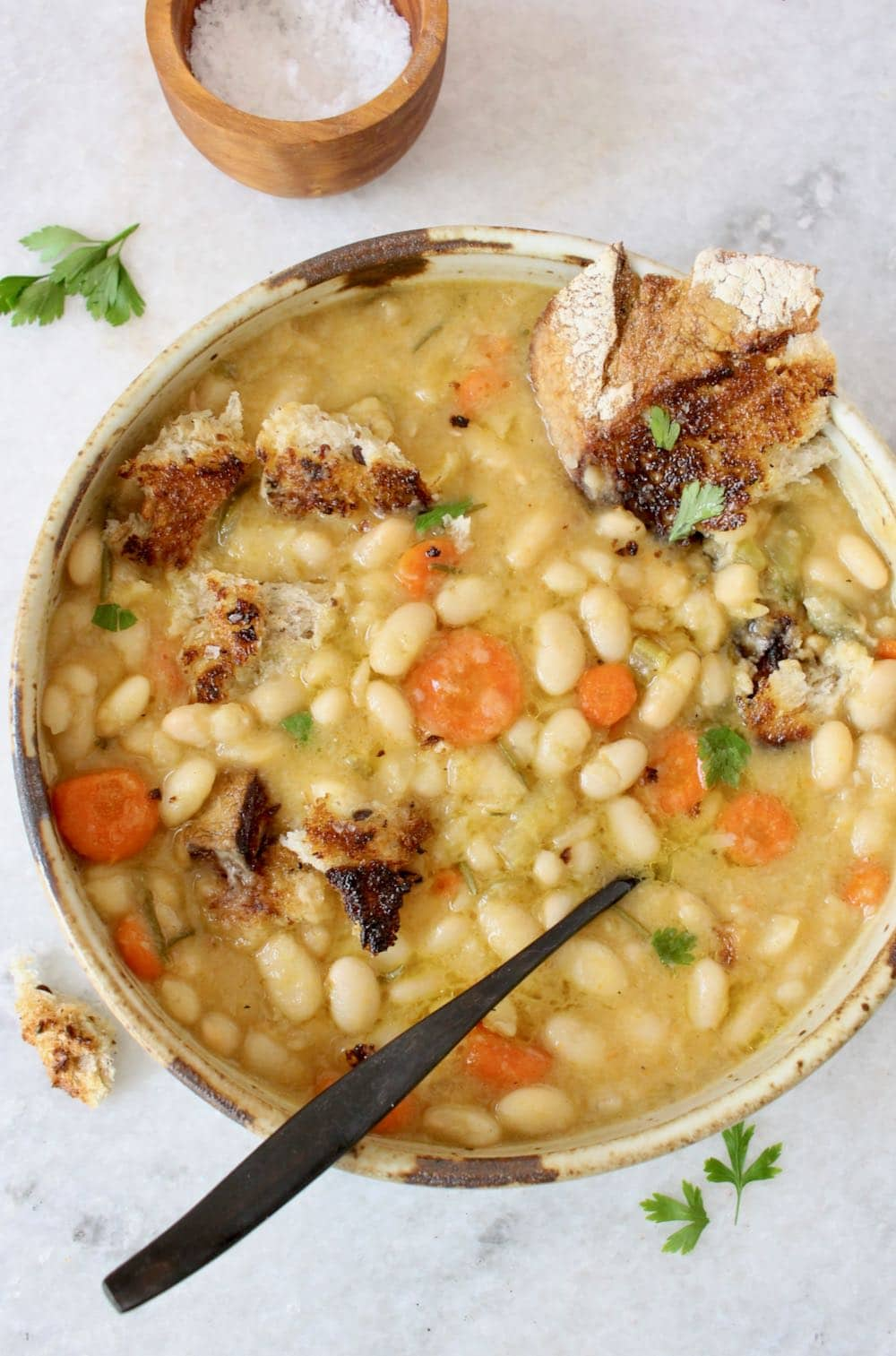 White Bean Ribollita Stew.