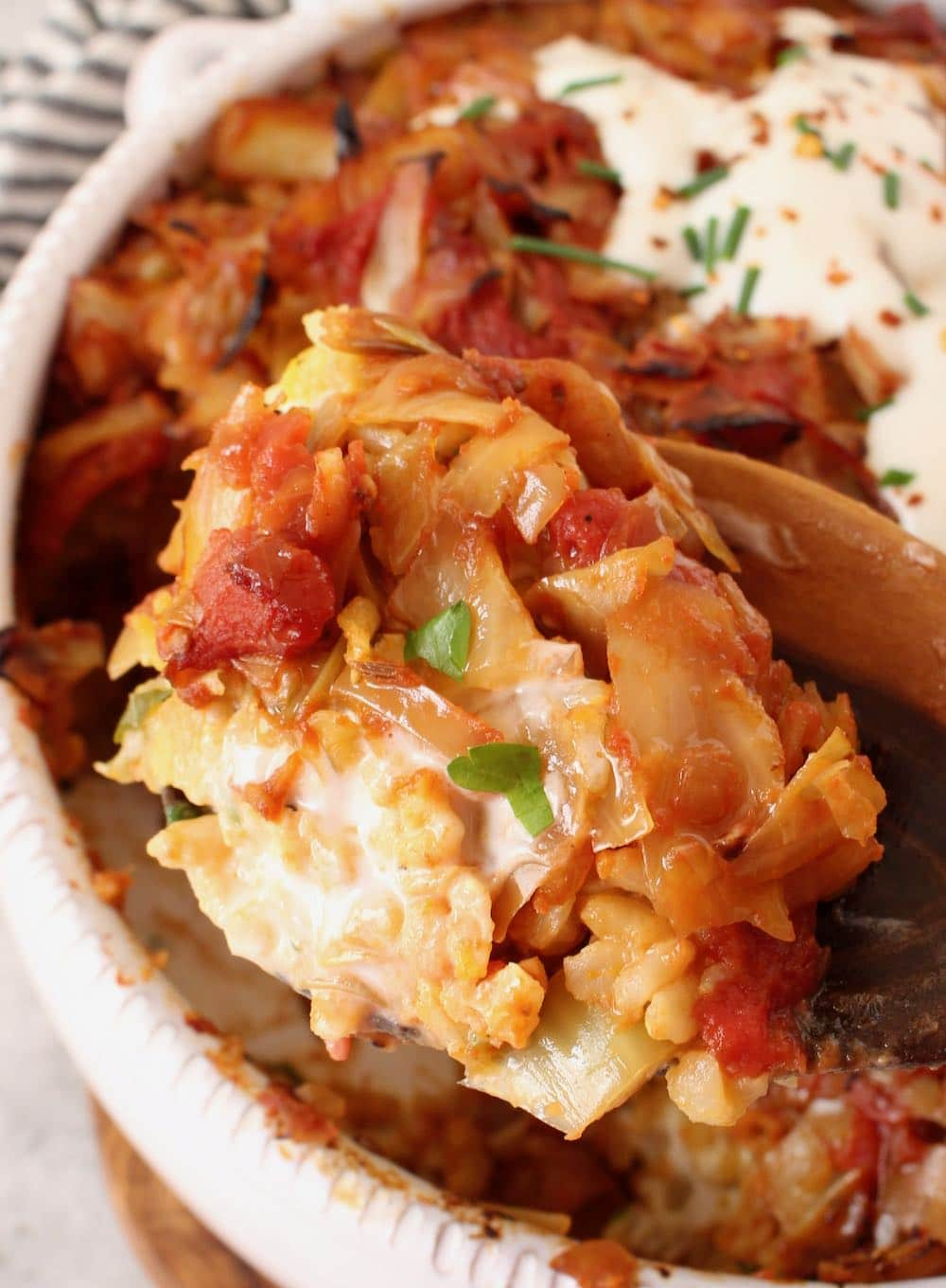 Deconstructed Cabbage Roll Casserole