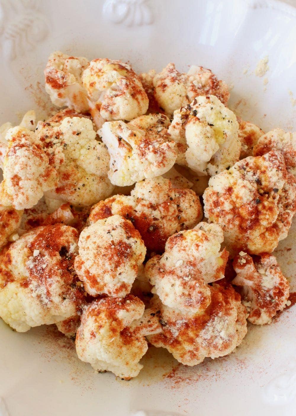 Cauliflower florets for air frying