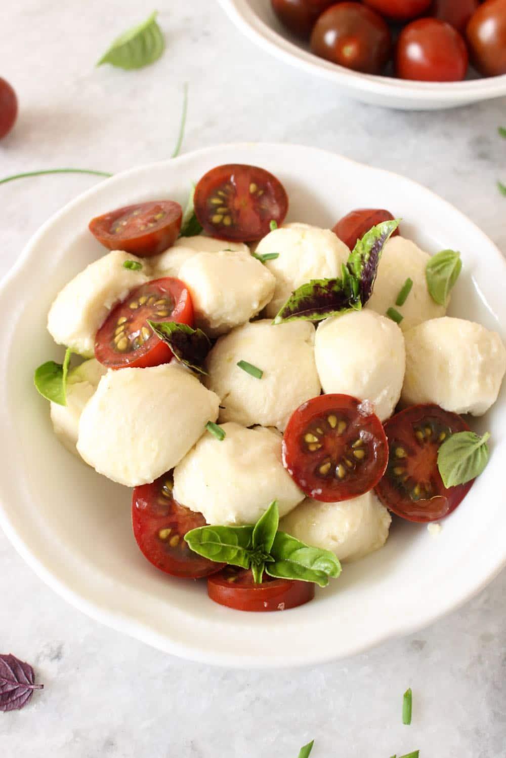vegan mozzarella Caprese