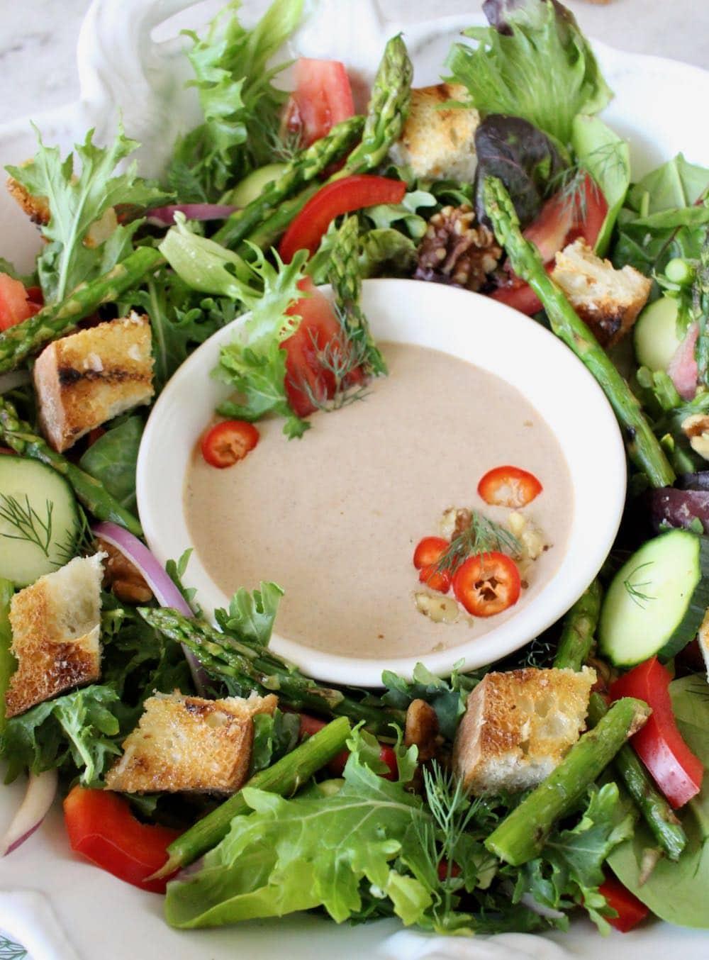Walnut Vinaigrette Salad Dressing