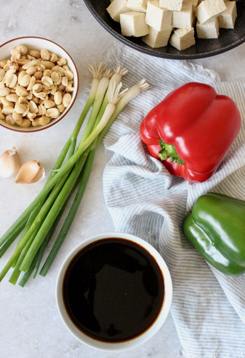 vegan kung pao tofu ingredients