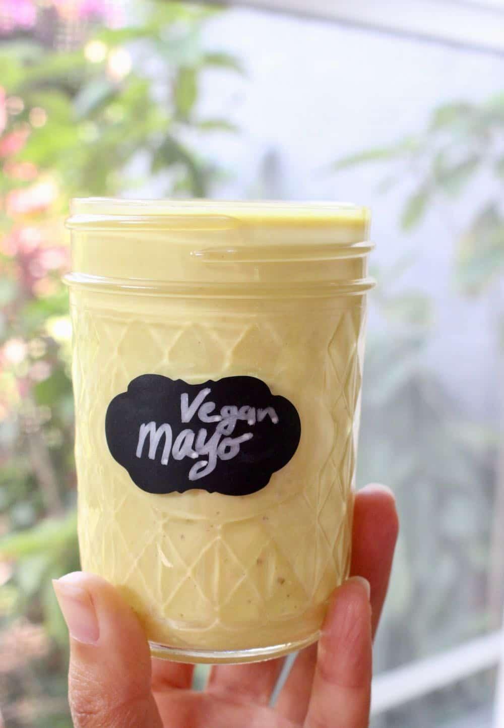 creamy vegan mayo with silken tofu
