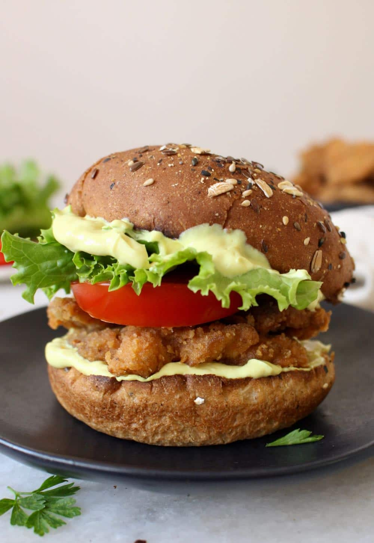 Fried Oyster Mushrooms Sandwich